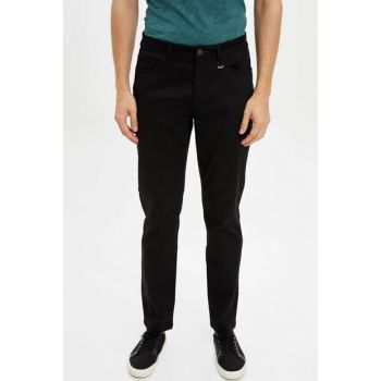 Men's Black Slim Fit Chino Pants L2491AZ.19AU.BK27