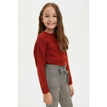 Relax Fit Sweater with Pompom L3863A6.19WN.OG354