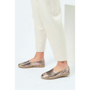 Genuine Leather Gold Women Shoes 120130007485