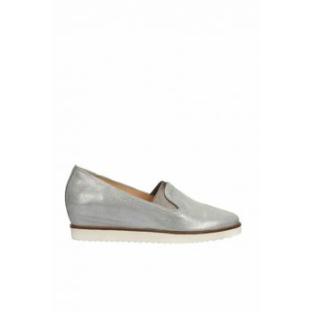 Genuine Leather Gray Women Shoes 120130005514