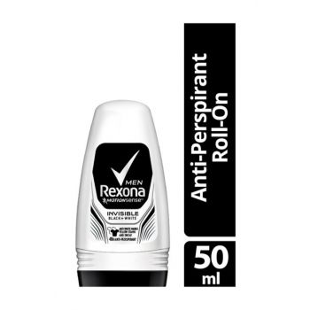 Deo Roll-On Men Invisible Black + White 50Ml 59079477