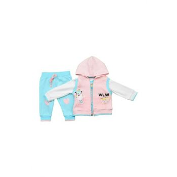 Baby Suit Vest 3 Pieces / Pink / 12 Months 10014797