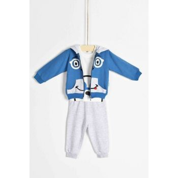 Boy Bottom Top Cardigan 3 Set Hoodie 6835 B6835