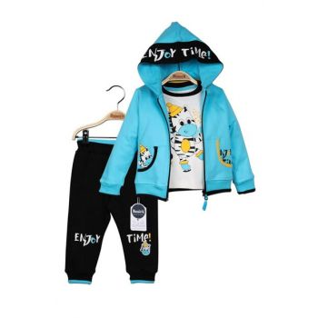 Miniworld Baby Boy Cardigan Sweatshirt Pants 3-Piece Suit 9-24 Months 14765 MINI14765