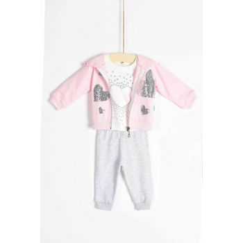 Baby Girl Bottom Top Cardigan 3-Piece Set 6-18 Months 6819 B6819