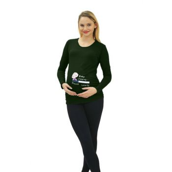 Pregnant Baby Loading T-shirt Long Sleeve 3135H