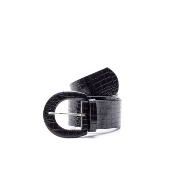 Alligator Leather Belt Buckle with Leather Buckle K-AW19035