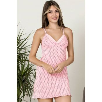 Women's Pink Strap Pink Nightgown 350