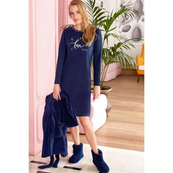 Women's Nightgown Navy Blue PC7403-S