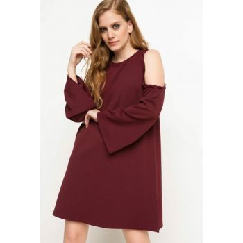 Women's Shoulder Detailed Dress I1728AZ.17AU.BR342
