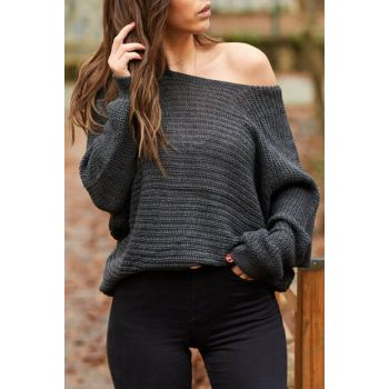 Women's Smoked Loose Sweater 9YXK3-41734-33