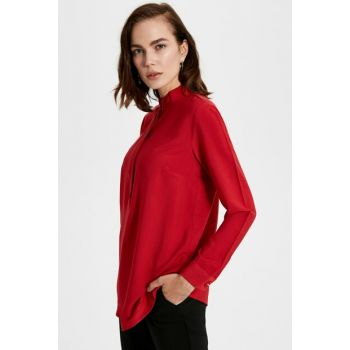 Women's Vivid Red Blouse 9WU603Z8