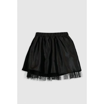 Girls' New Black Cvl Skirt 9WT746Z4