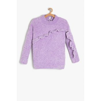 Purple Girl Child Firfir Detailed Sweater 9KKG97625OT