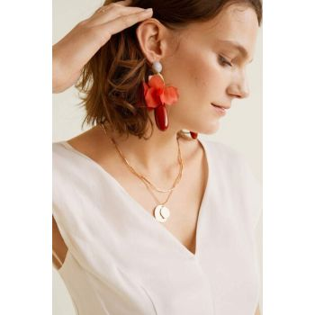 Women's Peach Mixed Resin Earring 53050718