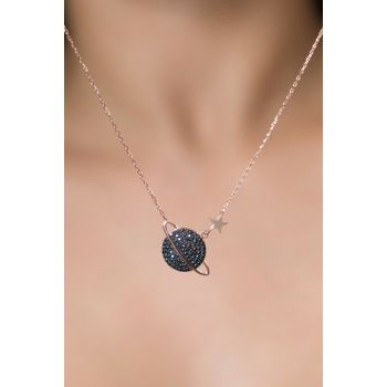 Women's Rose 925 Silver Planet Necklace PP2201