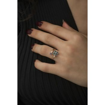 Women's Adjustable Metered Silver Clover Ring SY0205