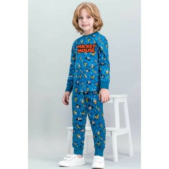Mickey Mouse Licensed Dark Oil Boys Pajamas Set D4263-C