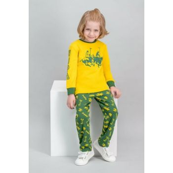 US Polo Assn Licensed Yellow Boy Pajama Set US-508-C