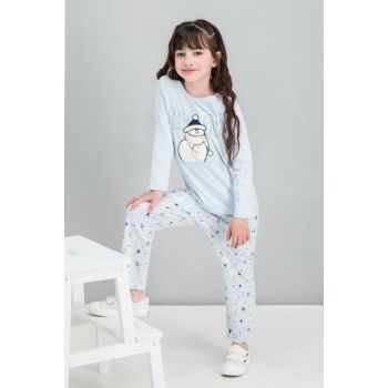 Winter Snowman Mavimelanj Girls' Sleepwear Set RP1574-C