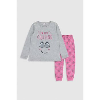 Girls' GRAY MELANGE CT3 Pajamas Set 9WN829Z4 Free Shipping