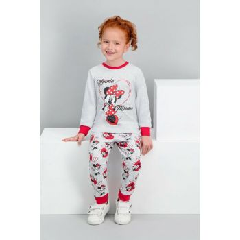 Minnie Mouse Licensed Carmel Girl Pajamas Set D4220-C