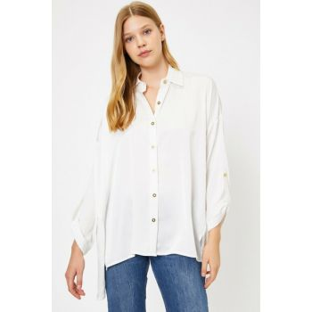 Women's Ecru Shirt Collar Long Sleeve 0KAF60141GW