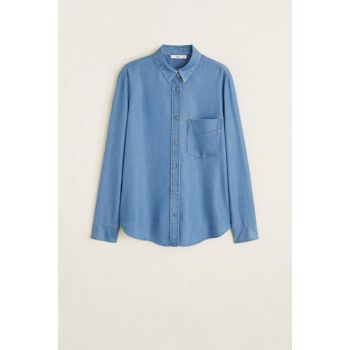 Women's Indigo Blue Denim Style Soft Shirt 51090921