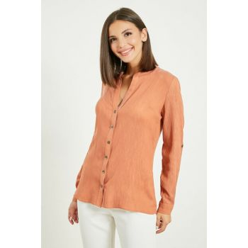 Long Sleeve Shirt - KİREMİT 9YGO139K588