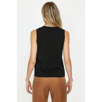 Women's Black Tank Top 9KAK68676PW
