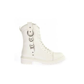 White Women Boots & Bootie 01BOY164590A900