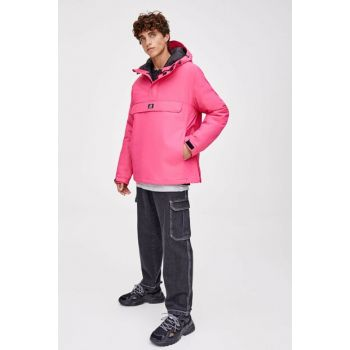 Men's Pink Patched Kangaroo Coat 09714926