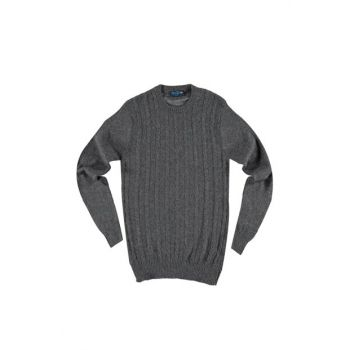 Bicycle Neck Woolen Patterned Sweater Pullover 88568