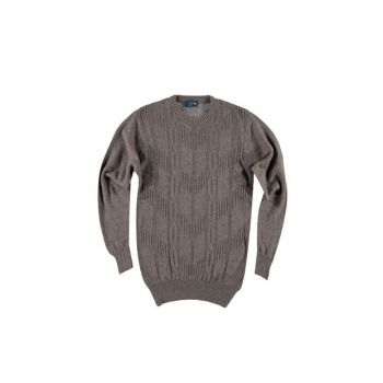 Bicycle Neck Woolen Patterned Sweater Pullover 88574