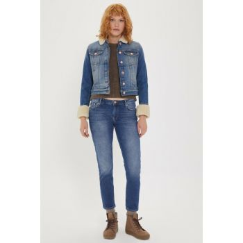 Women's Freda 7 Fur Jean Jacket 2016 LCF 131003