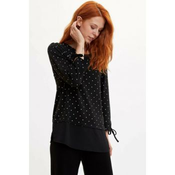 Women's Black Polka Dot T-shirt K2945AZ.19AU.BK27