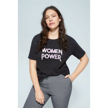 Women's Black Printed T-Shirt 67040157