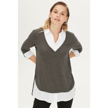 Women's Anthracite Melange T-Shirt 9WG865Z8