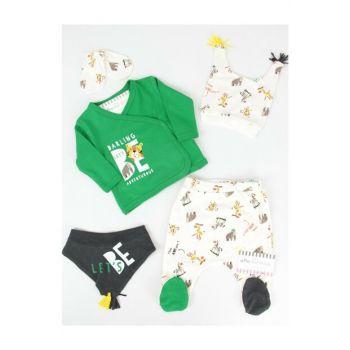 Green Safari Baby Boy 5sets Hospital Exit AF5055