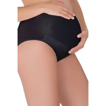 Women's Black Maternity Briefs 3332-S