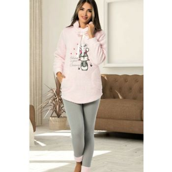 Women's Pink Wersoft Pajama Set 4363