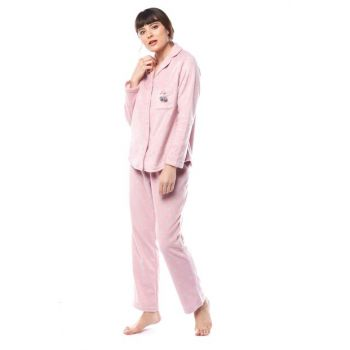 Women's Heart Patterned Shirt Pajama Set W2000