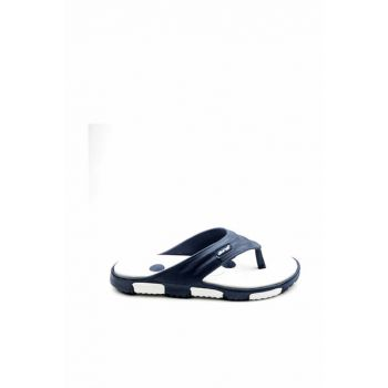 Navy Blue White Men's Slipper E212.M.000
