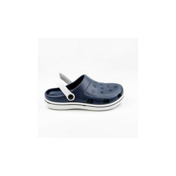 E250 Men's Hospital Sabo Slippers Sandals Navy Blue 1612
