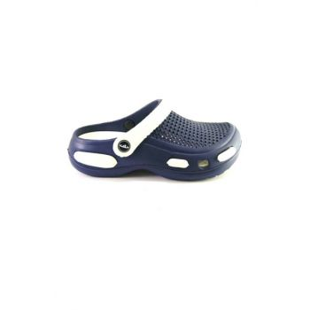 E087 Male-lb Hospital Sabo Slippers Sandals Navy Blue / White 1536