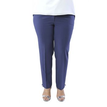 Women's Indigo Ankle Length Stitched Pants PT2146