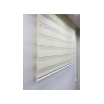 Sdney Cream Zebra Curtain 250x200 LCRCNCPT00007757