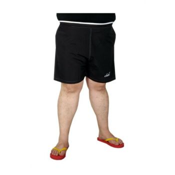 Plus Size Men's Beach Shorts 19573 Black 19573syh-3XL