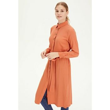 Women's Burnt Orange Tunic 9WG328Z8