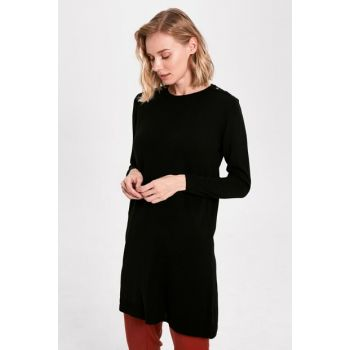 Women's New Black Tunic 9WU784Z8